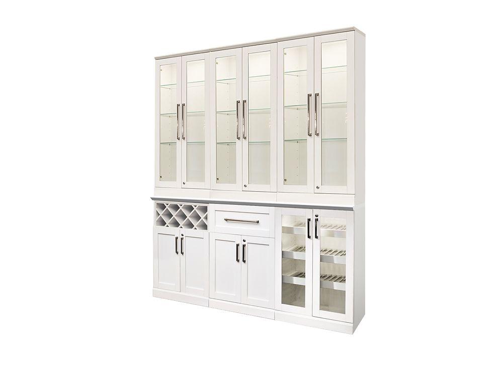 NewAge Products Bar de maison 72po (L) x 24po (l) 8éléments Style Shaker blanc