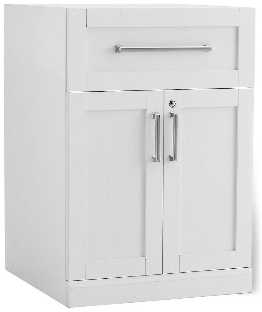 Home Bar 2-Door Shaker Cabinet in White