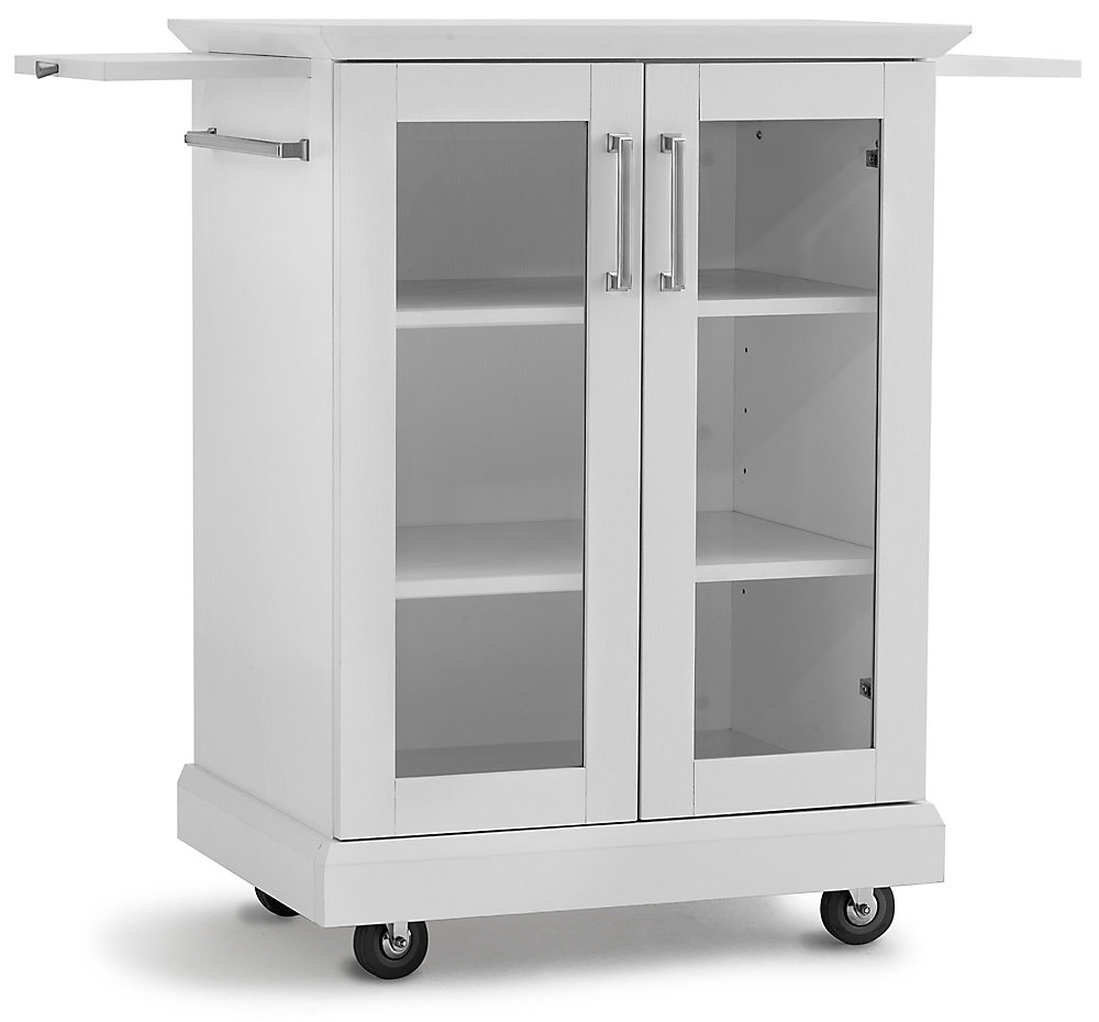 Newage Products White Bar Cart The Home Depot Canada