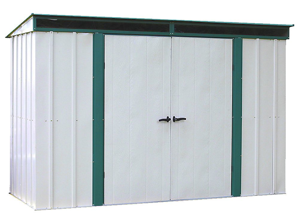 Euro-Lite 10 ft. x 4 ft. Pent Roof Window Shed