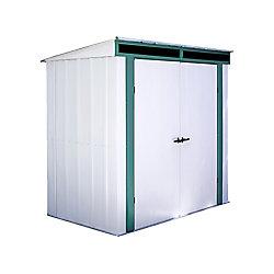 Arrow Euro-Lite™, 1,8x1,2, acier galvanisé à chaud, couleur pré vert / coquille d'œuf, toit incliné