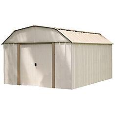 Lexington, 3x4,2, acier électrogalvanisé, couleur taupe / coquille d'œuf, toit en mansarde