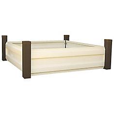 Plate-bande surélevée, 1,2x1,2, acier galvanisé à chaud, G90, couleur espresso / latte
