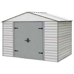 Arrow Viking Series 10 ft. x 7 ft. Vinyl-Coated Steel Storage Shed