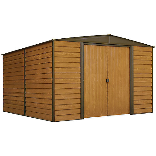 Woodridge 10 ft. x 12 ft. Steel Storage Shed