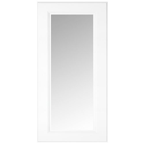 Eurostyle Florence - Glass Door 15 inch x 30 inch - White matt thermofoil