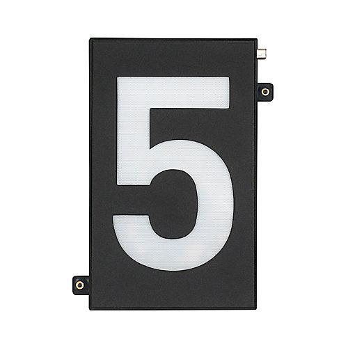 Modular 5-inch Black LED Illumination House Number