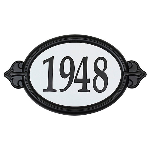 Oval Easy Install Address Plaque