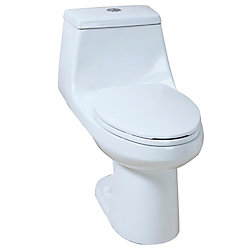 GLACIER BAY 4.1/6.0LPF 1-Piece elongated dual flush AIO toilet