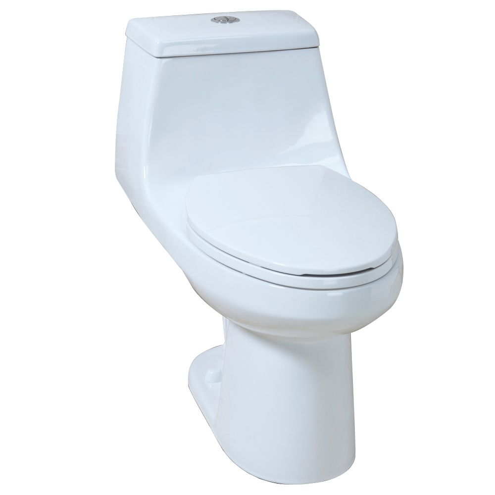 GLACIER BAY 4.1/6.0LPF 1 piece elongated dual flush AIO toilet