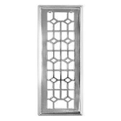 Hampton Bay Abstract Beveled Edge 3-inch x 10-inch Floor Register in Brushed Nickel (3-Pack)