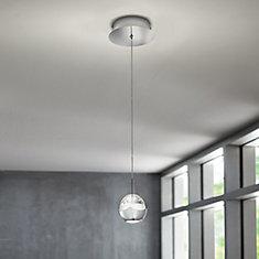1-Light Chrome LED Pendant