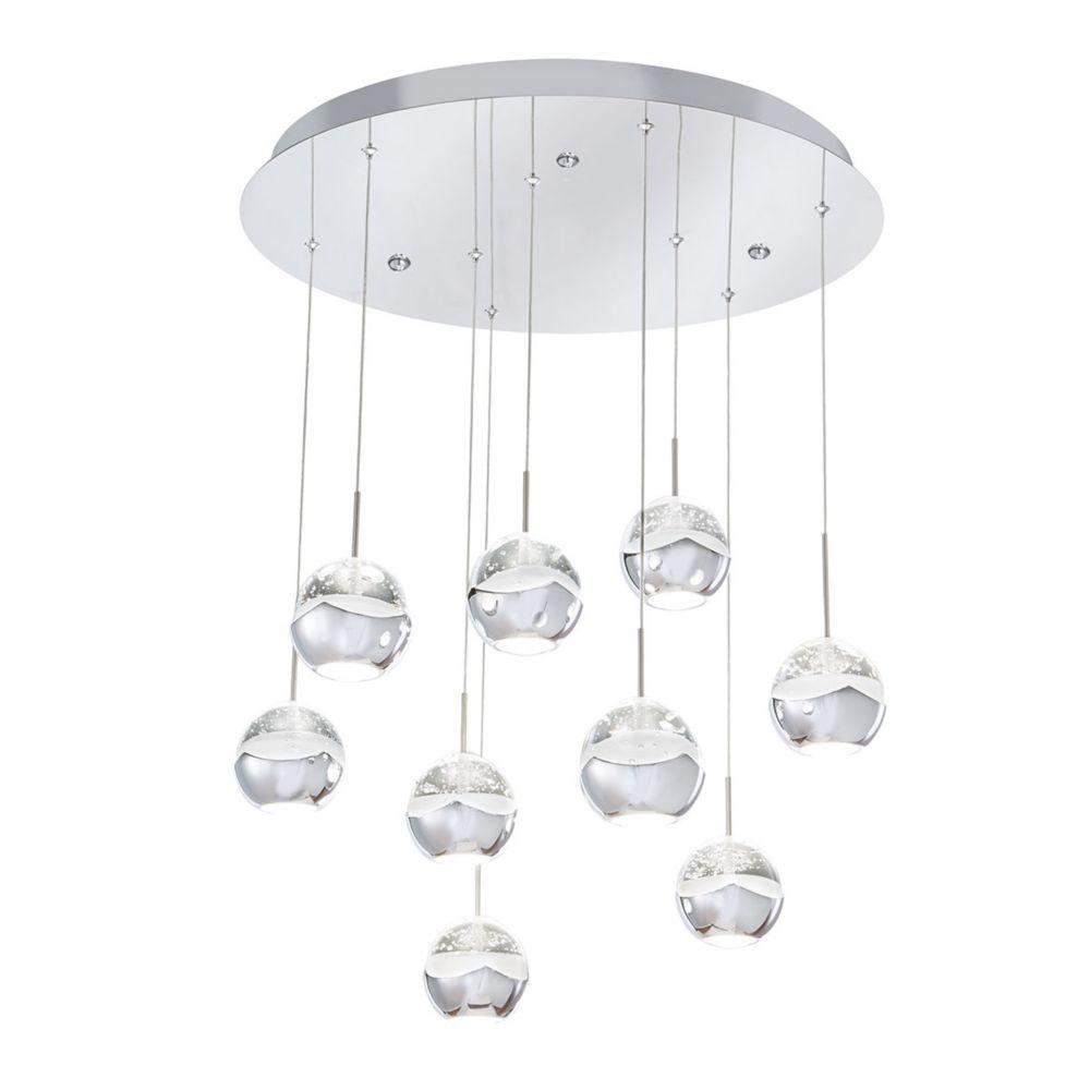 Home Decorators Collection 9 Light Chrome Led Pendant