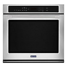 27-inch Single Electric Wall Oven with True Convection in Stainless Steel