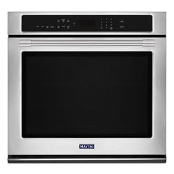 Maytag 27-inch Single Electric Wall Oven with True Convection in Stainless Steel