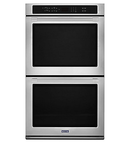 Maytag Double Wall Oven With Convection And Self Cleaning 8 6 Cu Feet The Home Depot Canada