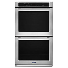 27-inch 8.6 cu.ft. Double Electric Wall Oven Self-Cleaning with Convection in Stainless Steel