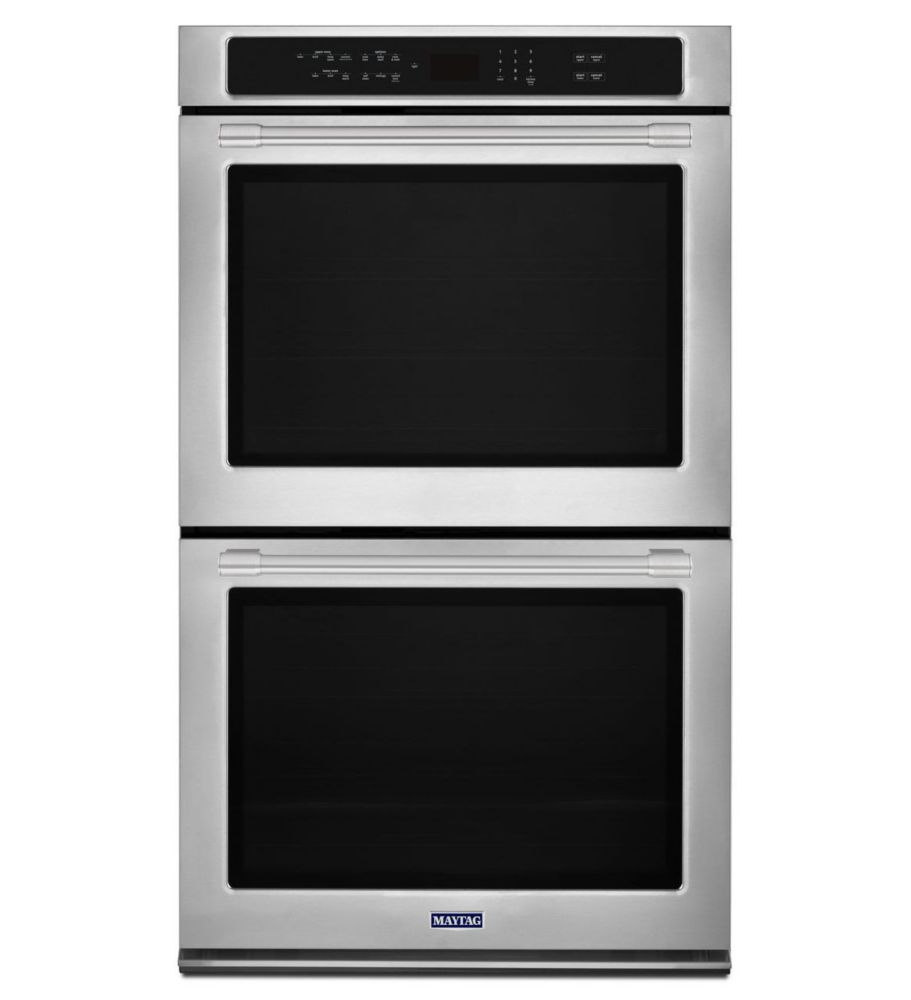 Maytag 27-inch 8.6 cu.ft. Double Electric Wall Oven Self-Cleaning with Convection in Stainless Steel
