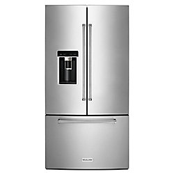 KitchenAid 36-inch W 23.8 cu. ft. French Door Refrigerator in Stainless Steel