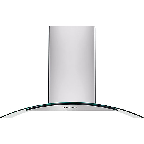 30-inch Convertible Wall Mount Range Hood with Glass Canopy in Stainless Steel