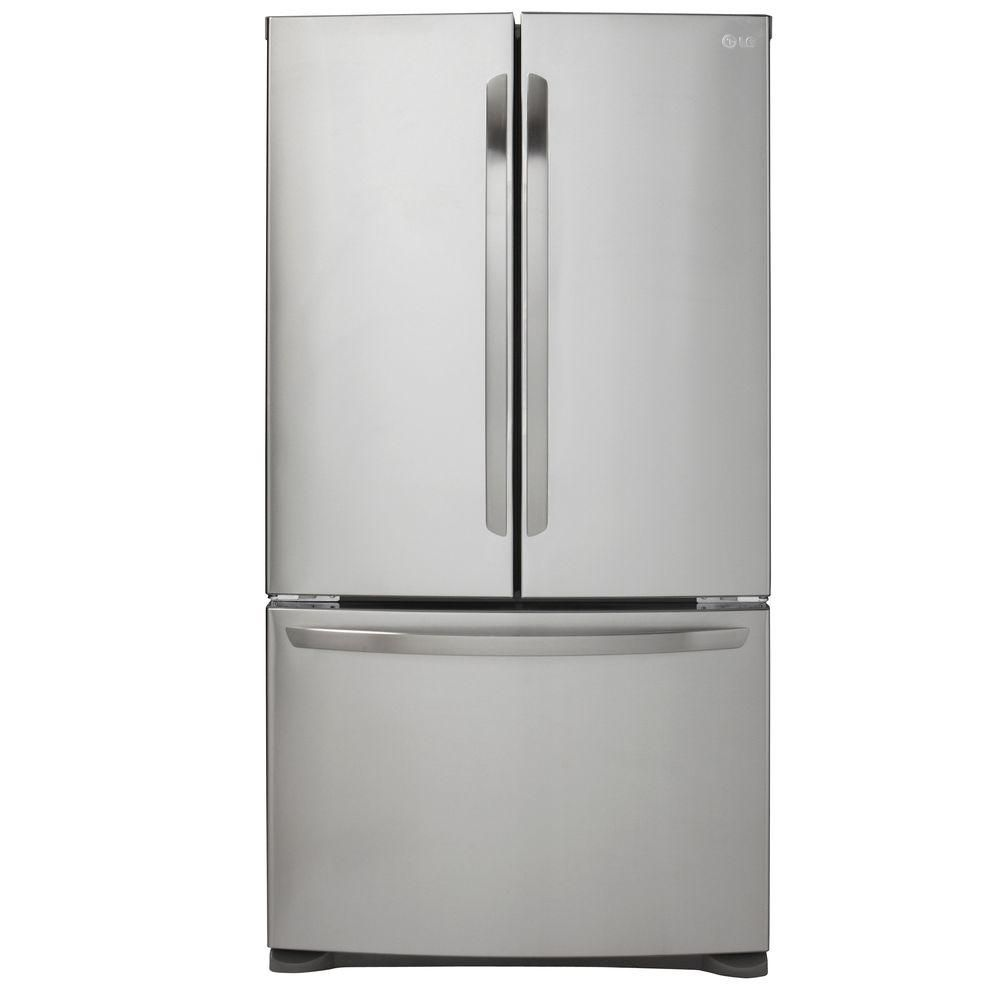 20.9 Cu. Ft Large Capacity Counter Depth 3 Door French Door Refrigerator with Smart Cooling Syste...