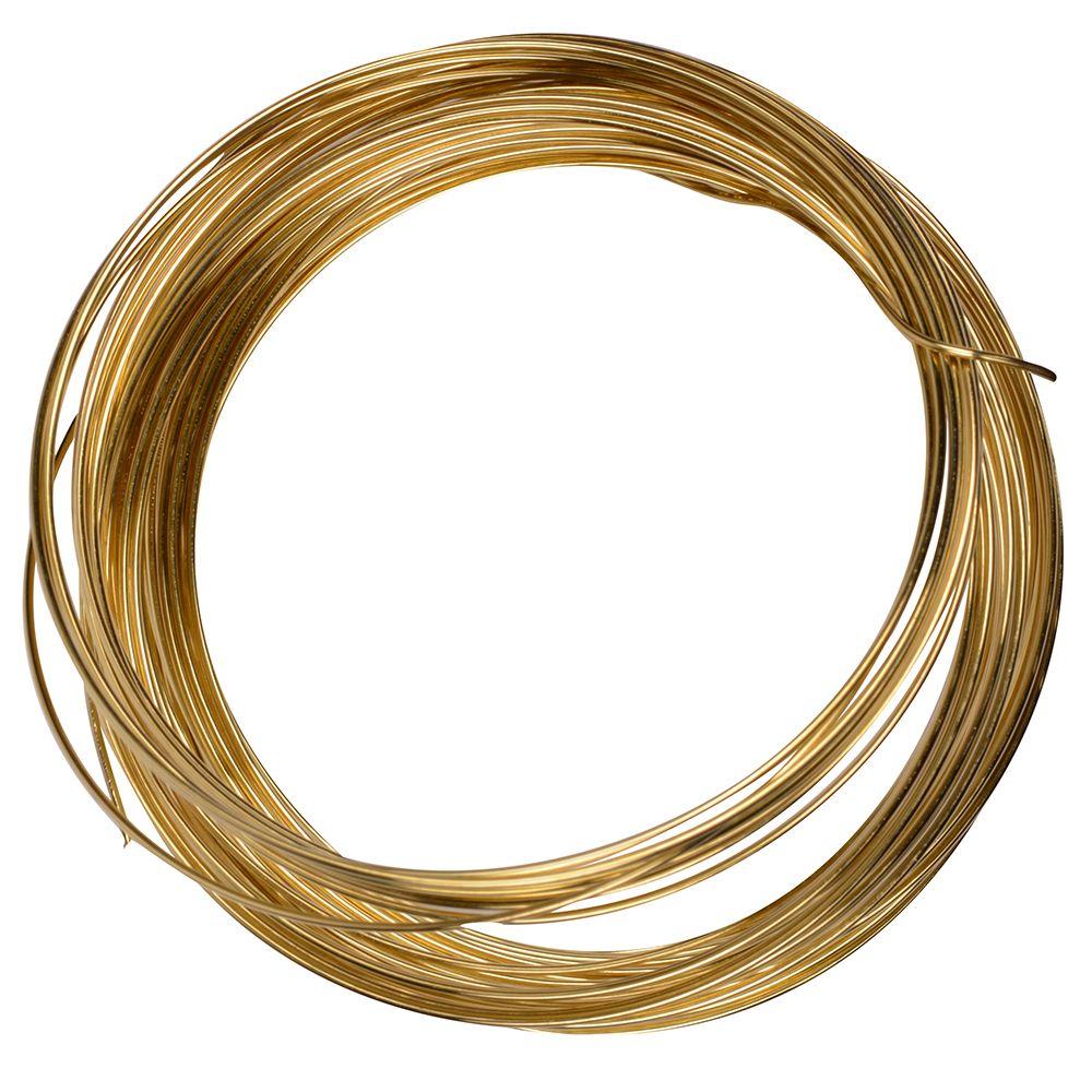 OOK Brass Tie Wire 22GX35 ft.