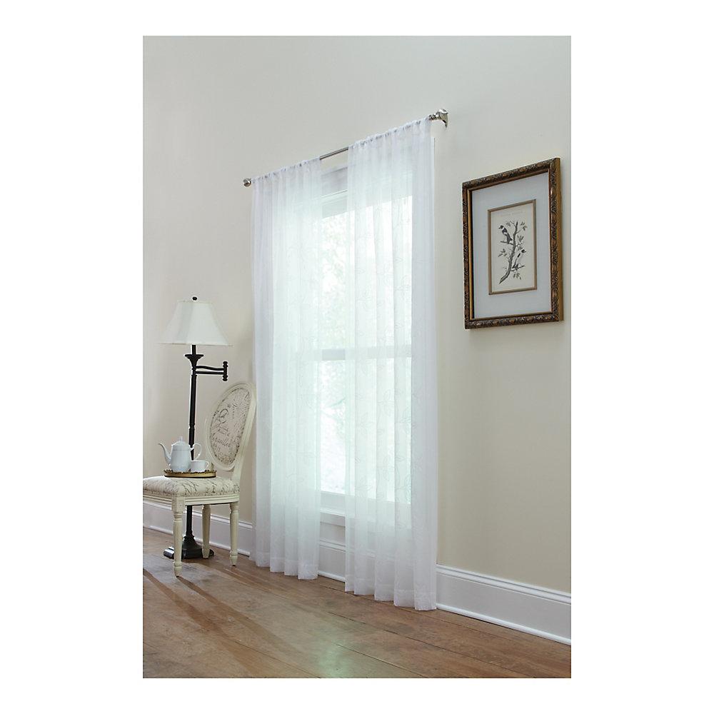 Panneau de draperie passe-pôle, blanc,  50 x 108