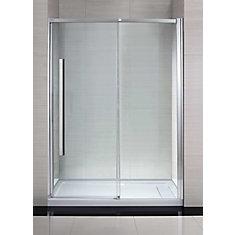 Elvina 60-inch Framed Sliding Shower Door in Glass
