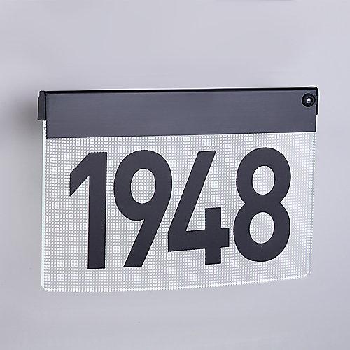 LED Illuminated Contemporary Address Plaque