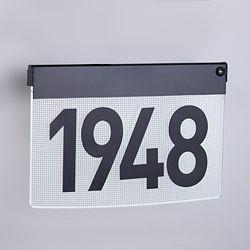 Taymor Plaque d'adresse contemporaine avec éclairage àDEL