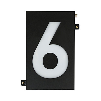 Taymor Modular 5 Inch Black Led Illumination House Number The Home Depot Canada