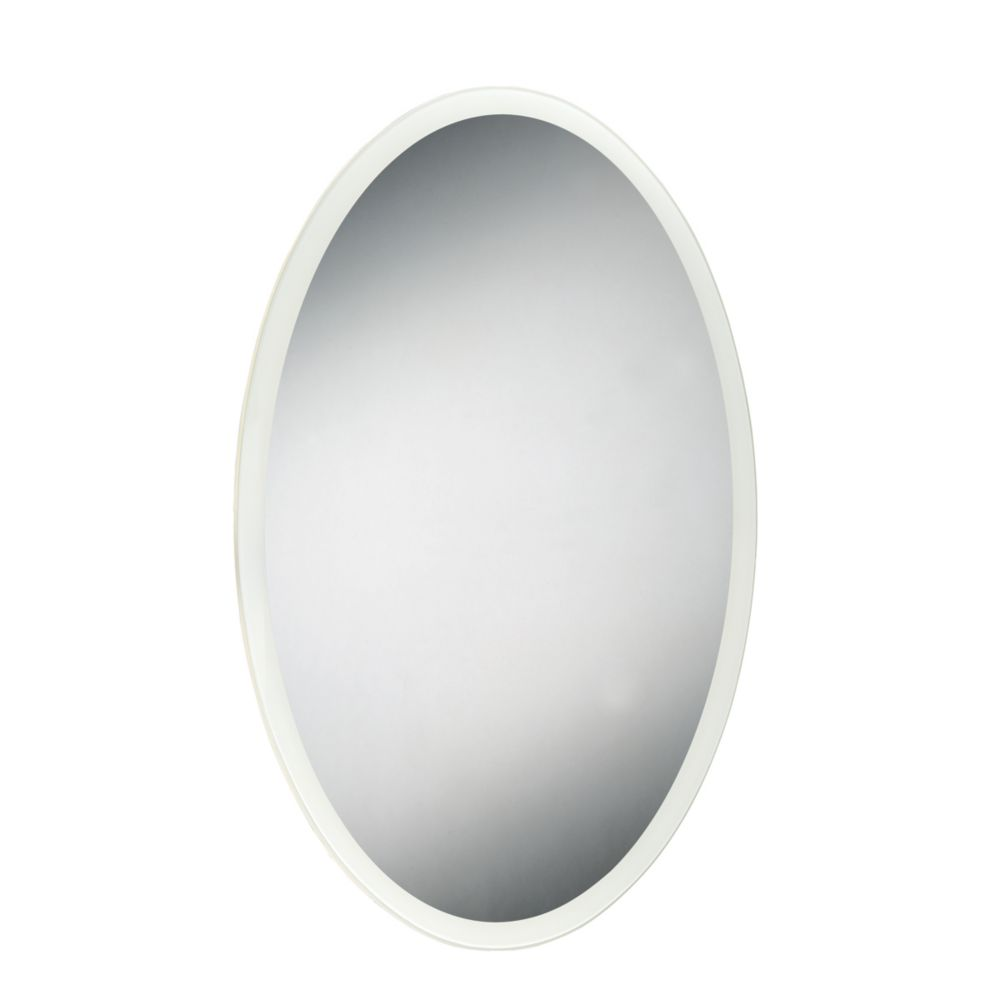 Oval Edge-Lit LED Mirror