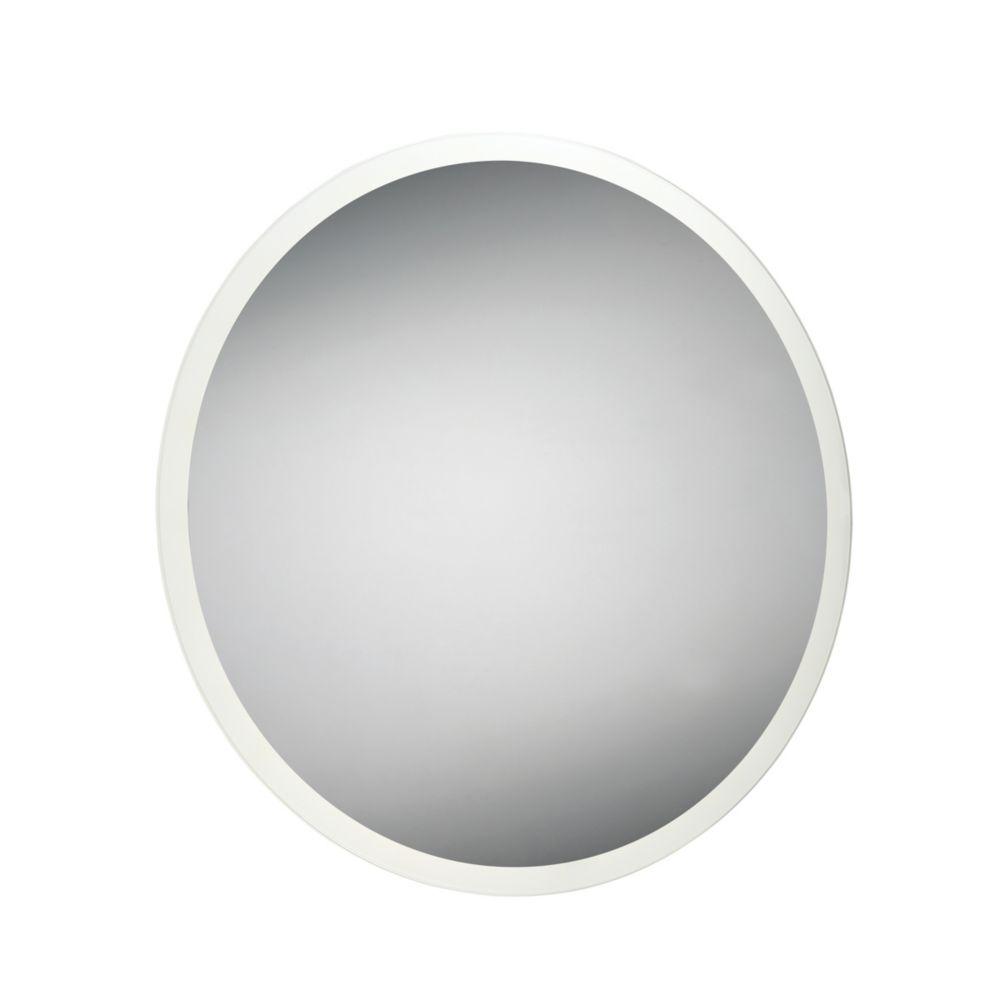Miroir rond à bord illuminé à DEL