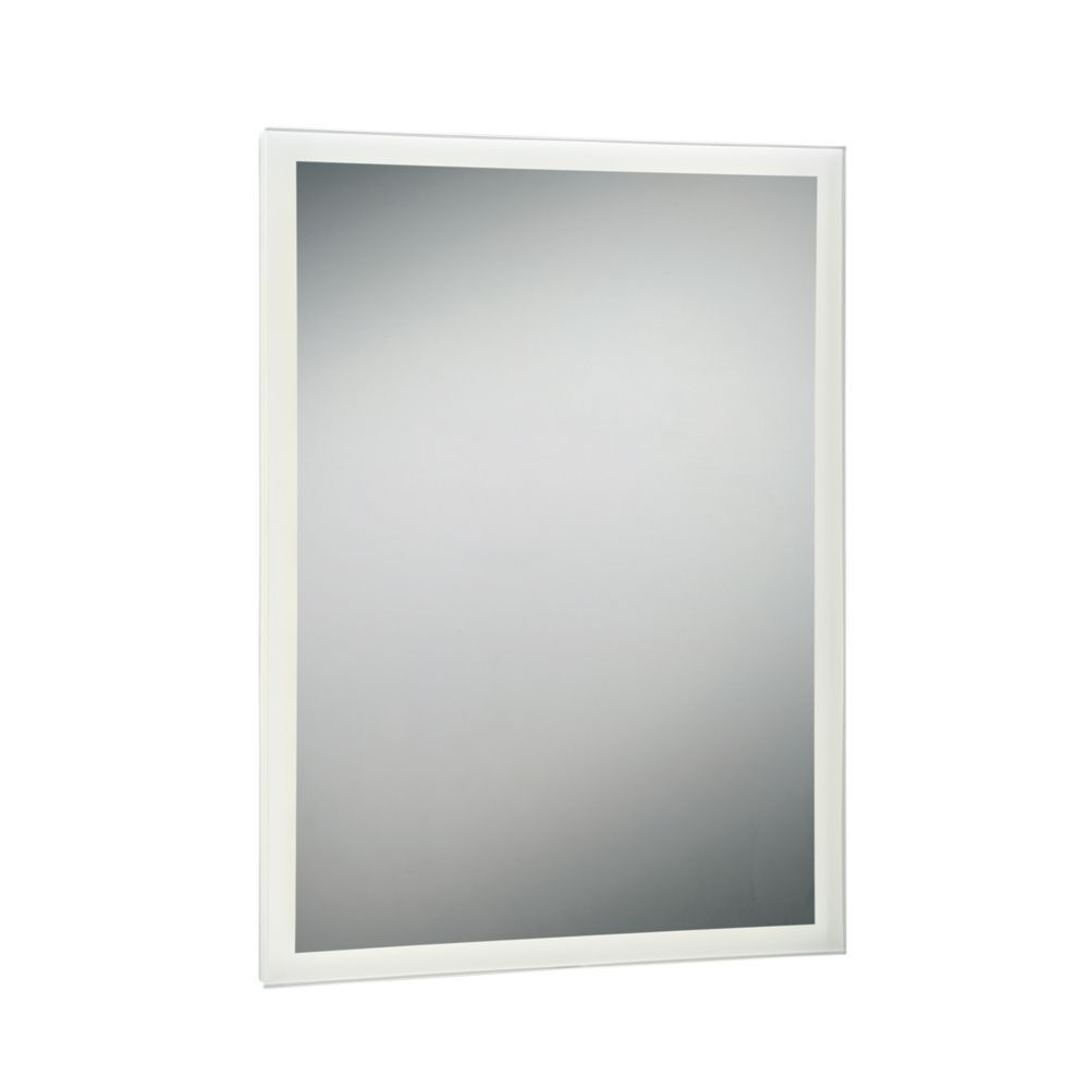 Rectangular Edge-Lit LED Mirror