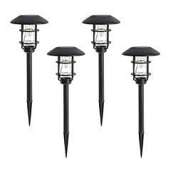 Hampton Bay Solar Pathlight V Filament LED (4-Pack)