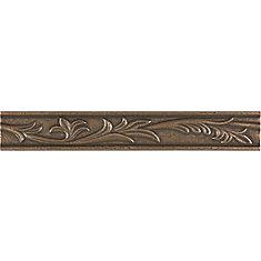 1-inch x 8-inch Fiore Border Tile in Bronze