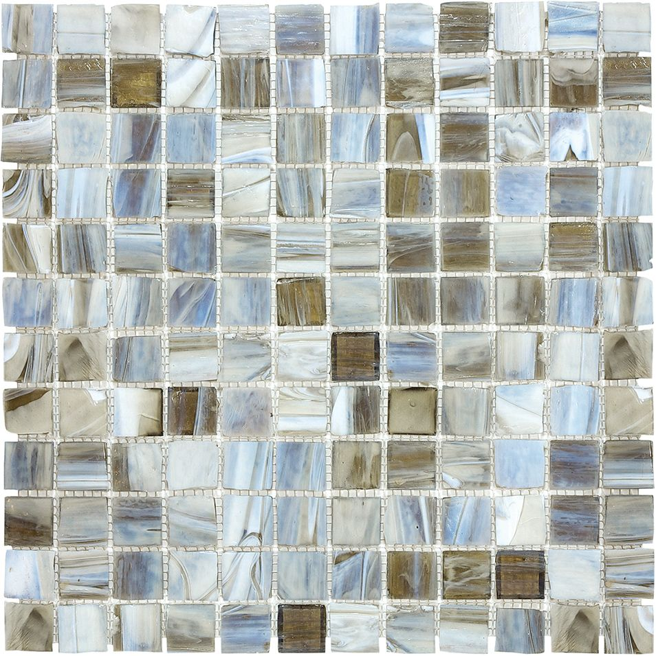 1-inch x 1-inch Stained Glass Mosaic Tile in Tranquility