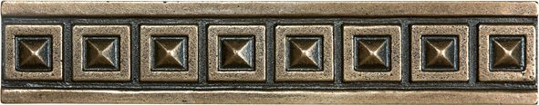 1.25 Inch x 6 Inch Cast Bronze Metal Palladian Border