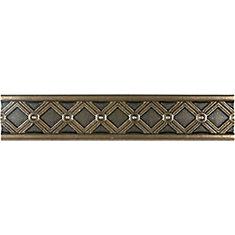 Kairos 1.25-inch x 6-inch Metal Border Tile in Cast Bronze