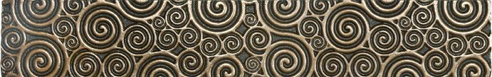 Luminor 2-inch x 12-inch Metal Border Tile in Cast Bronze