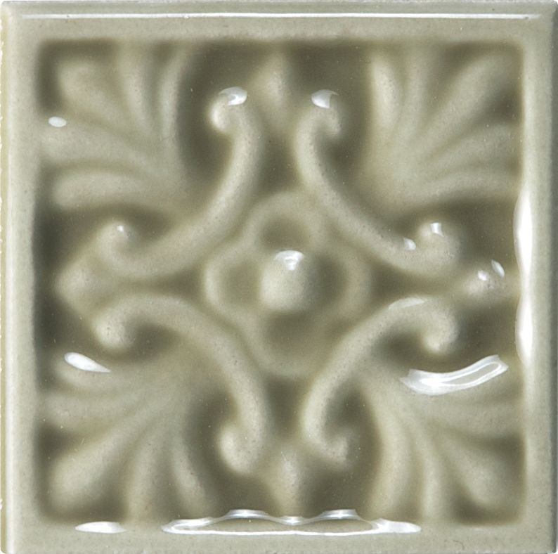 Wolfe Creek 2-inch x 2-inch Decorative Tile in Sage