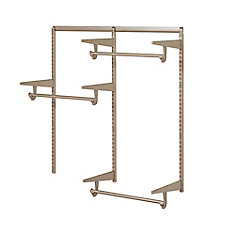 Closet Culture 4 ft. Closet Hardware Kit in Champagne Nickel