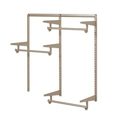 Home Decorators Collection Closet Culture 4 ft. Closet Hardware Kit in Champagne Nickel