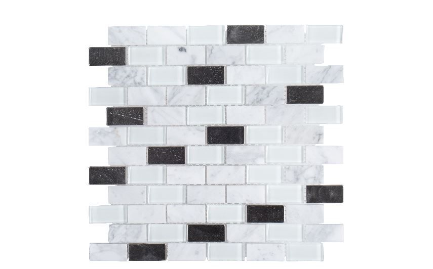 Jeffrey Court 11 6 Inch X 6mm Mosaic Tile In Techno White Gl Metal The Home Depot Canada
