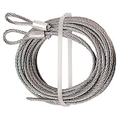 Extension Spring Cable Set, 1/8 inch. X 12 ft. With Loop Ends