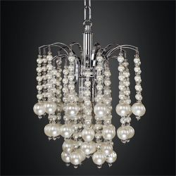 "Glow Lighting 10 ""Cascading Faux Bead Perle Mini Pendant   Asti 644"