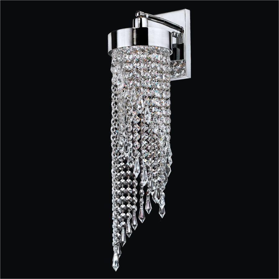 6 Inch  Crystal Swirl Wall Sconce  Intuition 609