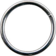 1-1/2 inch  Stainless Steel Welded Harness Ring - 2 Pieces