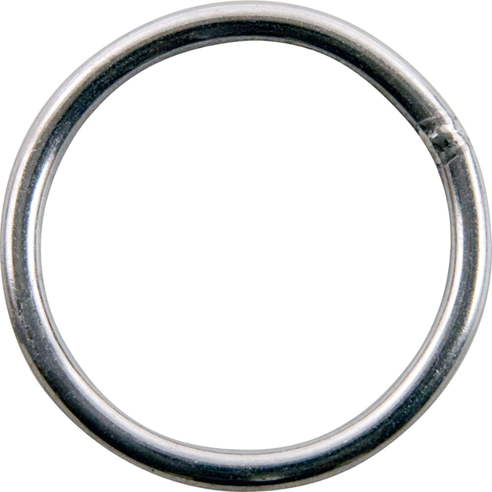Everbilt 1-1/2 inch  Stainless Steel Welded Harness Ring - 2 Pieces