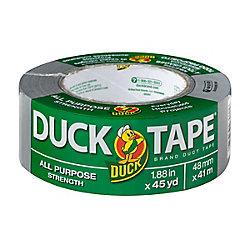 Duck Ruban adhésif tout usage de marque Duct Tape Argenté, 48 mm x 41m (1,88po x 45verges)